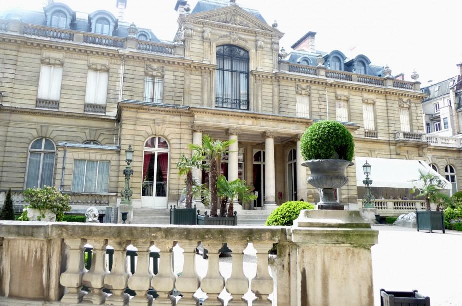 La cour arrière du Musée Jacquemart- André, par... (Photo: Alexandra Perron, Le Soleil)