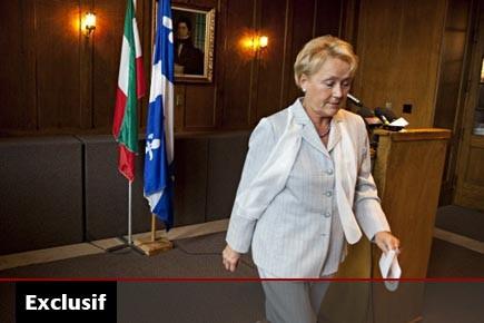 Pauline Marois, qui a prononcé un discours lundi... (Photo: François Roy, La Presse)