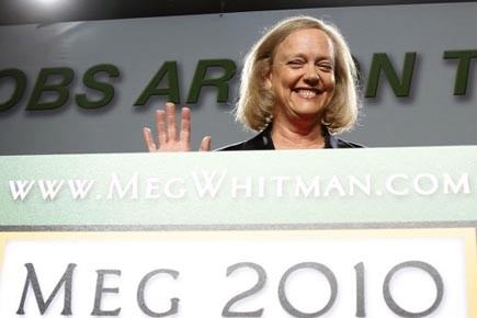 Mardi vers minuit, Meg Whitman, ex-présidente d'eBay, avait... (Photo:  Lucy Nicholson, Reuters)