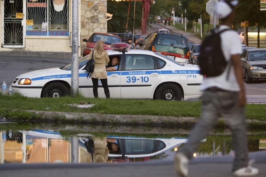 Depuis l'émeute d'août 2008, la présence policière a... (Photo: David Boily, Archives La Presse)