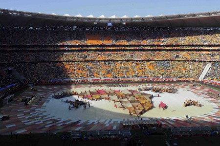 Le stade de Soccer City, à Johannesburg... (Photo: AP)