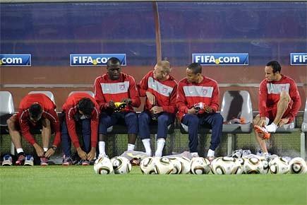 Les joueurs américains ont terminé leur préparation, hier,... (Photo: AFP)