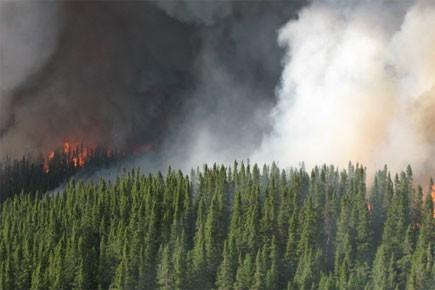 Une interdiction de faire des feux à ciel ouvert en... (Photo: Le Quotidien)