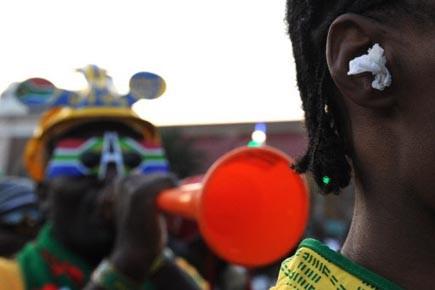 Les Sud-Africains sont les premiers défenseurs des trompettes... (Photo: Alexander Joe, AFP)