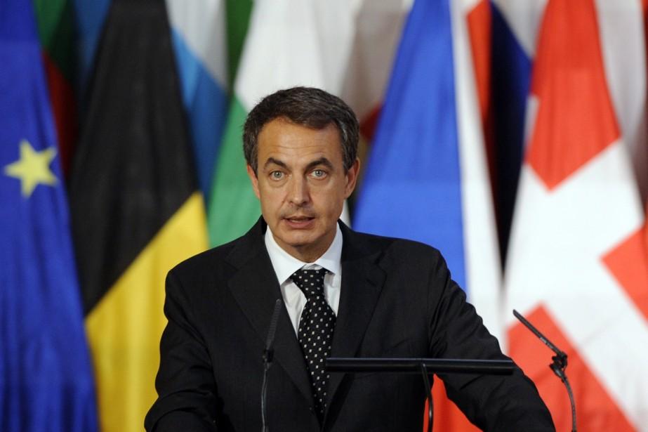 Le chef du gouvernement espagnol, José Luis Zapatero... (Photo: AFP)