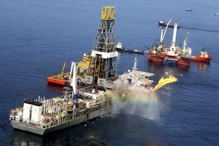La plateforme pétrolière de BP, responsable de la... (Photo Reuters)