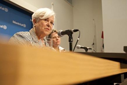 La chef du parti Vision Montréal, Louise Harel,... (Photo: François Roy, La Presse)