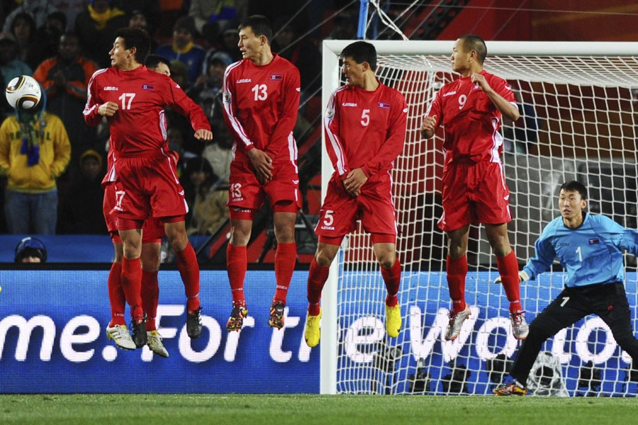 Le mur nord-coréen s'est élevé pour contrer un... (Photo: AFP)