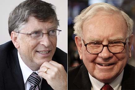 Selon le magazine Forbes, Bill Gates et Warren... (Photo: archives AP/archives AP)