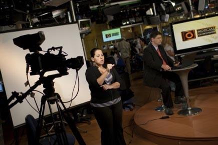 La télévision Globovision, également sous le coup de... (Photo: Carlos Garcia, Reuters)
