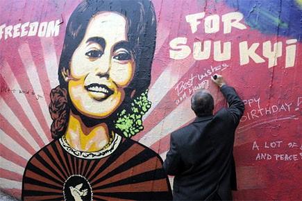 Aung San Suu Kyi, lauréate du Prix Nobel... (Photo: AFP)