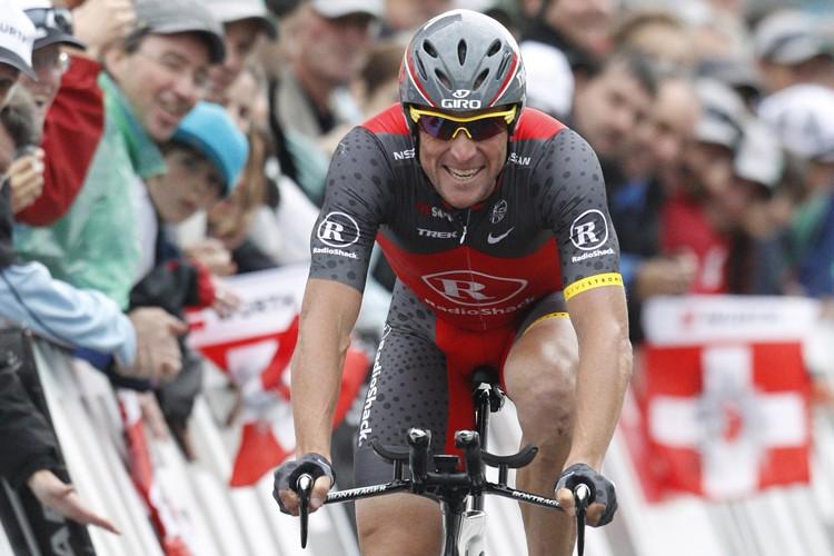 Lance Armstrong a terminé en deuxième place au... (Photo: Reuters)