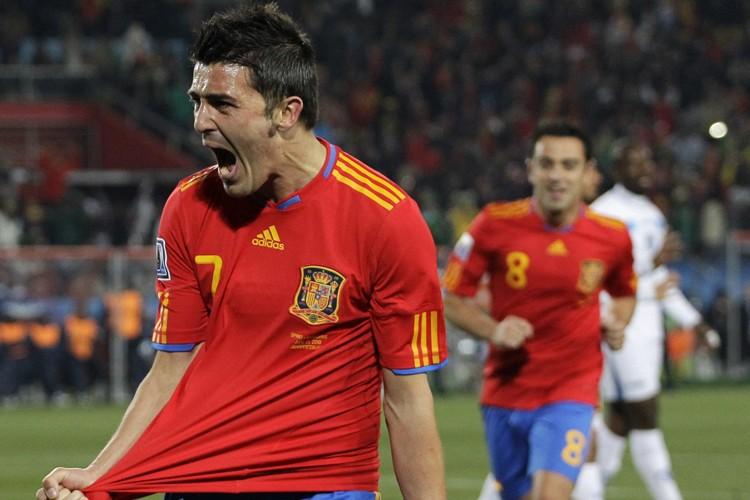David Villa a marqué les deux buts de... (Photo: AP)