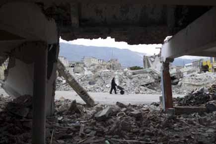 Peu de progrès ont été réalisés dans la reconstruction en Haïti... (Photo: AP)