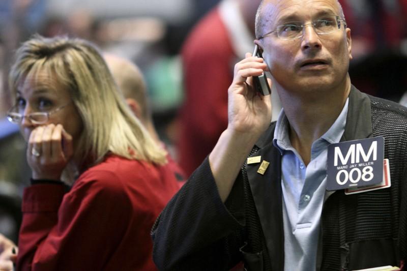 En début de journée hier, les marchés étaient... (Photo John Gress, Reuters)
