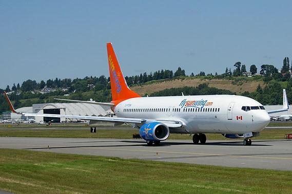 Un avion de la compagnie Sunwing... (Photo: archives La Presse)