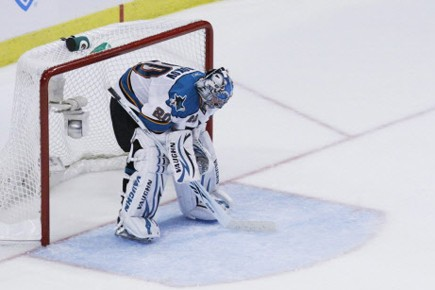 Les Sharks de San Jose ont coupé les ponts avec le gardien de but... (Photo: AP)