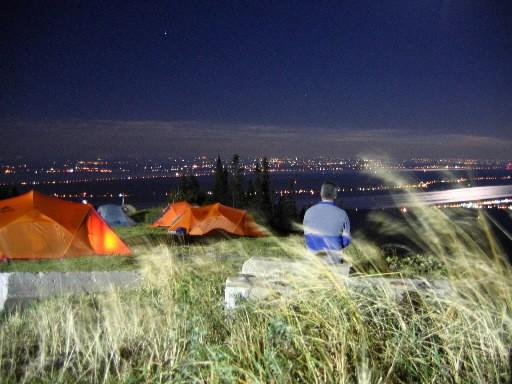 Camping au sommet du Mont Sainte-Anne... (Photo fournie par Bougex)