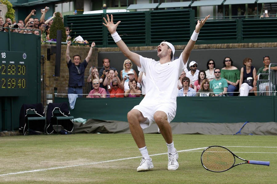 L'Américain John Isner a remporté le match le... (Photo: Reuters)
