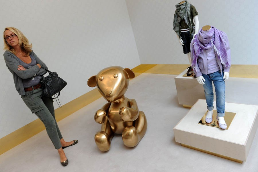 La ligne Gucci Kids du printemps-été 2011 a... (Photo: AFP)