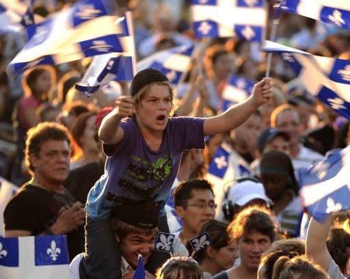 En début de soirée, plusieurs dizaines de milliers... (Photo: Bernard Brault, La Presse)