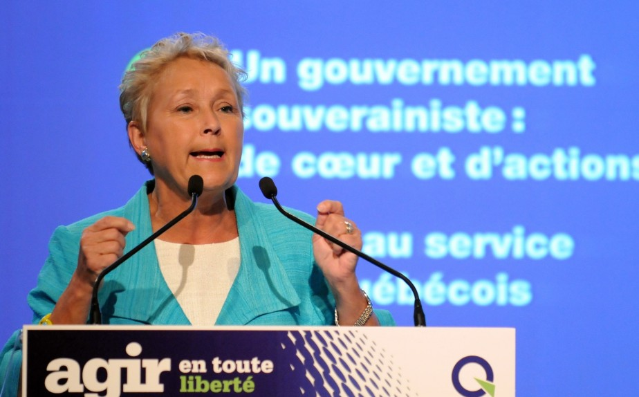 Pauline Marois lors de la conférence nationale des... (PHOTO: MARTIN MARTEL, FOCUS 1)