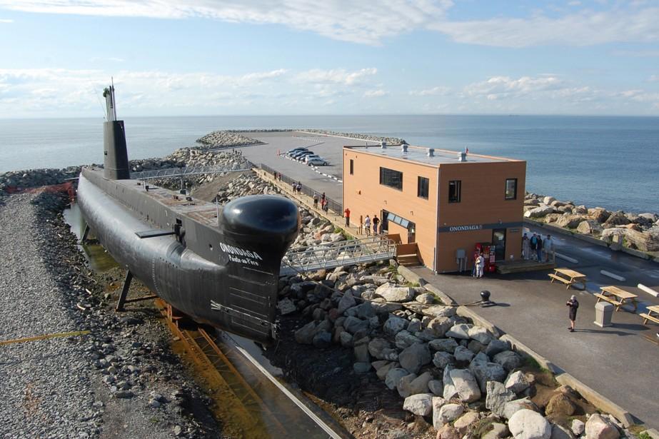 C'est à Rimouski qu'on trouve le seul sous-marin... (Photo: fournie par le site historique maritime de la Pointe-au-Père)