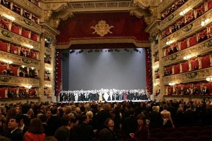 La salle de spectacles La Scala à Milan... (Photo: AP)