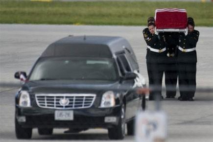 Les funérailles du soldat canadien Andrew Miller, tué dans... (Photo: PC)
