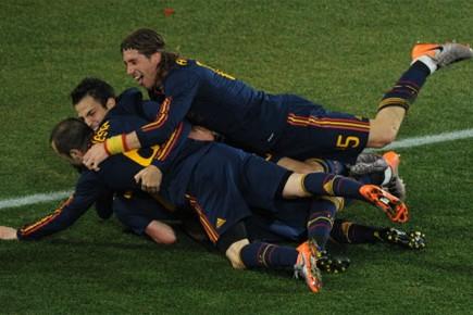 David Villa a marqué à la 83e minute.... (Photo: AFP)