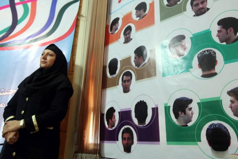 Les autorités iraniennes ont présenté, lundi, ce tableau... (Photo: AFP)