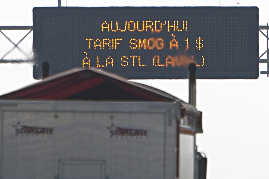 À Laval, un tarif «smog» à 1$ est... (Photo: Ivanoh Demers, La Presse)