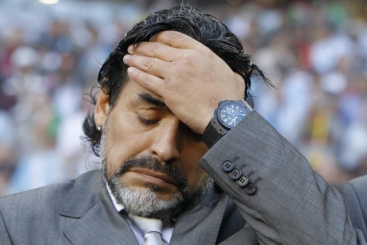 Diego Maradona... (Photo: AP)
