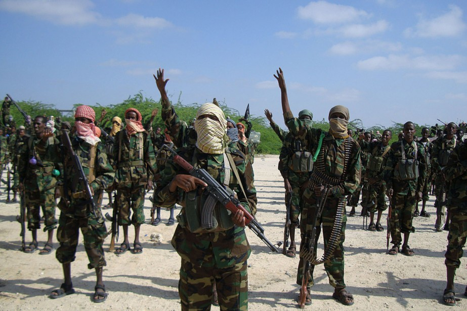 Rebelles shebab à l'entraînement près de Mogadiscio.... (Photo: archives AFP)