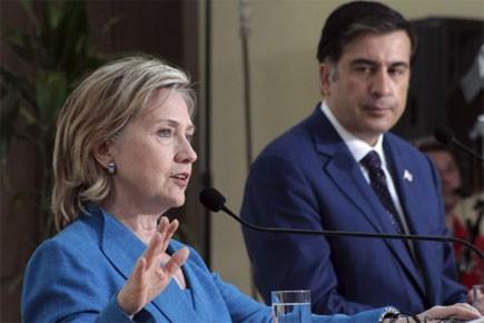 Lors d'une conférence de presse avec le président... (Photo: AP)