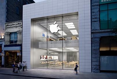L'Apple Store de Montréal, rue Sainte-Catherine... (Apple)