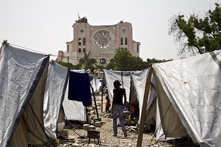 La cathédrale Notre-Dame de Port-au-Prince est exactement dans... (Photo: Martin Chamberland, La Presse)