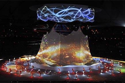 La cérémonie d'ouverture des Jeux Olympiques de Vancouver.... (Photo: Bernard Brault, archives La Presse)