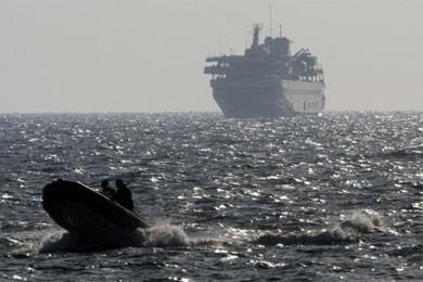 Les affrontements sur le navire amiral de la... (Photo: AFP)