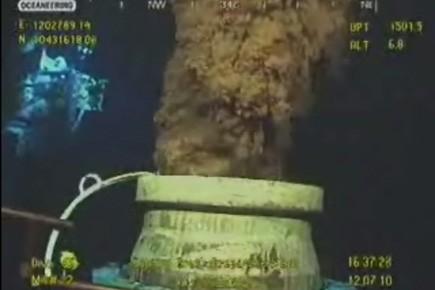 Image extraite d'une vidéo de BP. Des robots... (Photo AP)
