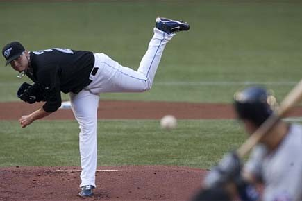 Brett Cecil, lanceur des Blue Jays de Toronto... (Photo: PC)