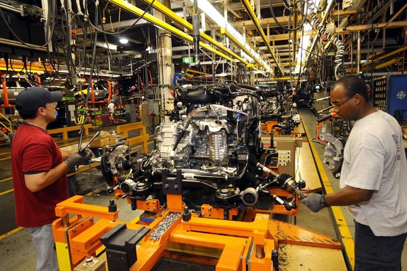 La perte de confiance des fabricants industriels serait... (Photo AP)