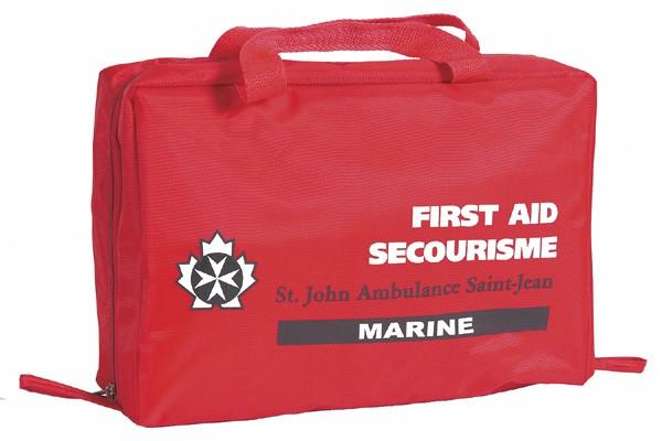 Trousse de premiers soins de l'Ambulance St-Jean....