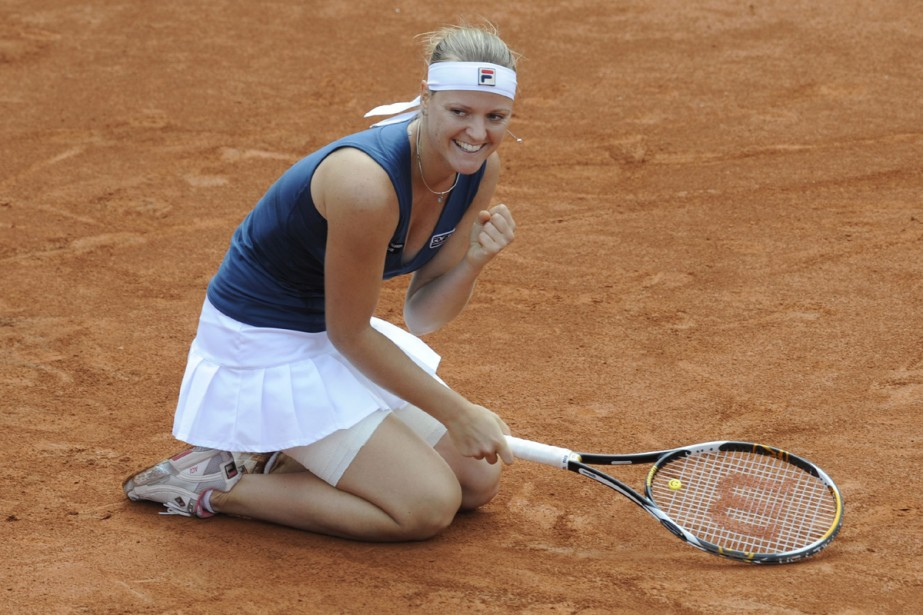 La Hongroise Agnes Szavay (N.7) a remporté dimanche... (Photo: AFP)