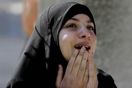 Femme palestinienne.... (Photo d'archives AP)