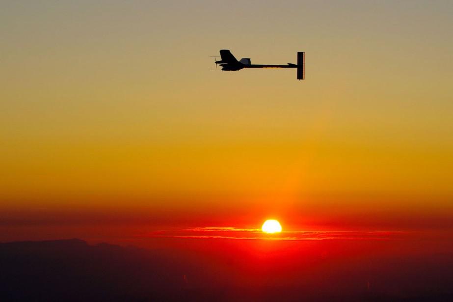 L'avion expérimental Solar Impulse a réussi dimanche son... (Photo: AFP)