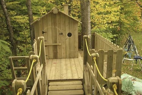 Cette cabane en pin gris, réalisation d'Aménagement MR,... (Photo: fournie par aménagement MR)