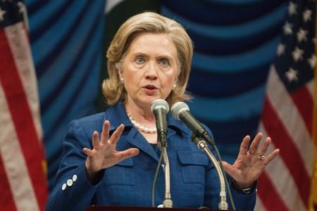 La secrétaire d'État Hillary Clinton est arrivée dans... (Photo: AFP)