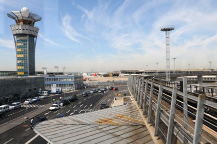 Tour de contrôle de l'aéroport d'Orly, à Paris.... (Photo AFP)