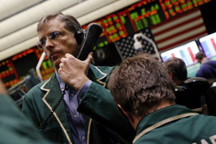 Trader au New York Mercantile Exchange.... (Photo d'archives Reuters)